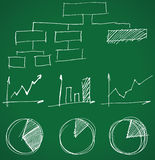 Business graphs. Hand drawn business graphs - illustration Royalty Free Stock Photos