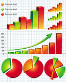 Business graphs. Colorful business graphs - vector illustration royalty free illustration