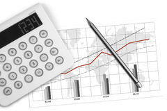 Business graphs Stock Image