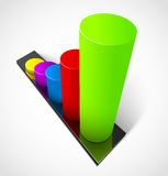 Business graphs. 3d business colorful graphs. Vector illustration eps10 Royalty Free Stock Photo