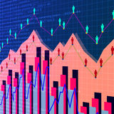 Business graphs background Royalty Free Stock Images