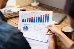 Business graphs and charts Royalty Free Stock Photos