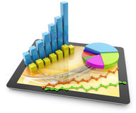 Business graphs and charts Stock Image
