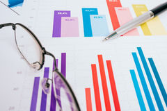 Business graphs and charts. Picture Stock Photos