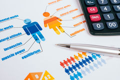 Business graphs and charts Stock Photography