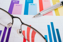 Business graphs and charts Royalty Free Stock Image