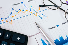 Business graphs and charts. Picture Royalty Free Stock Photography