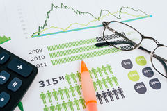 Business graphs and charts Royalty Free Stock Photo