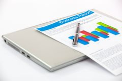 Business graphs and charts Royalty Free Stock Photography
