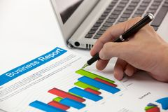 Business graphs and charts Stock Photos