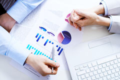 Business graphs Stock Photo