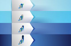 Business graphs customizable blue texture Banners Stock Images
