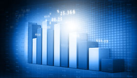 Business graphs. 3d render of business graphs background Royalty Free Stock Photos