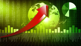 Business graphs. 3d render of business graphs background Royalty Free Stock Photography