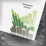 Business graphs. With hand-drawn formulas vector illustration