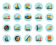 Business graphs icons set Stock Photography
