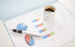 Business graphs Royalty Free Stock Photo