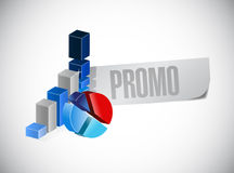 Business graphs promo sign illustration design Royalty Free Stock Photography