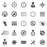 Business Gray Icon Set Royalty Free Stock Image