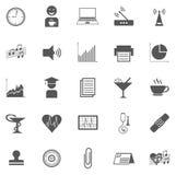 Business Gray Icon Set 005 Royalty Free Stock Photos