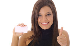 Business is Great thumbs up. Shot of Business is Great thumbs up Stock Image