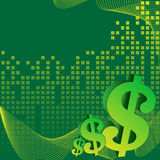 Business green background Stock Image