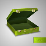 Business green briefcase Royalty Free Stock Image