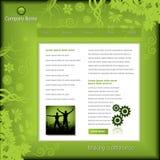 business green template web Στοκ φωτογραφίες με δικαίωμα ελεύθερης χρήσης