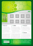 Business green web template Stock Photography