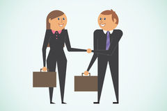 Business greeting Royalty Free Stock Photo