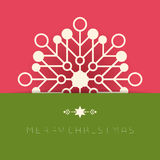 Business greeting christmas card. Royalty Free Stock Photography