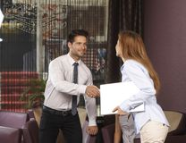 Business greeting Stock Images