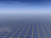 Business Grid Background. Business Blue Enviroment Grid Background Stock Photo