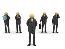 Business Group. A 3d image of several businessmen Stock Image