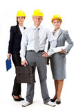 Business group. Portrait of friendly business team posing in front of camera Royalty Free Stock Photo