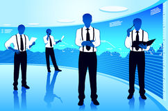 Business group. Stock market team leader Royalty Free Stock Photos