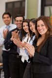 Business group applauding Stock Photos