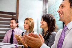 Business group applauding Royalty Free Stock Photo