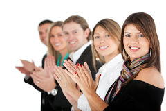 Business group applauding Royalty Free Stock Images