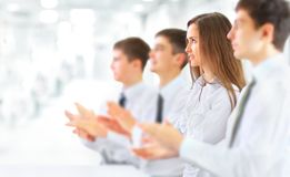 Business group applauding Royalty Free Stock Image