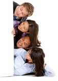 Business group with banner Stock Photo