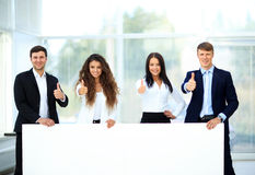 Business group with banner Royalty Free Stock Image