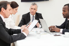 Business group brainstorming Stock Photo