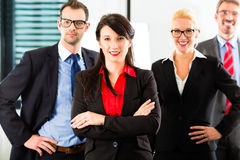 Business - group of businesspeople in office Royalty Free Stock Image
