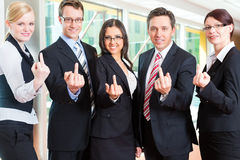 Business - group of businesspeople in office Stock Photos