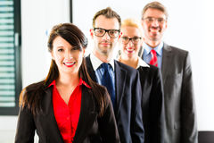 Business - group of businesspeople in office Royalty Free Stock Photography