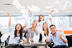 Business group celebrating a triumph Royalty Free Stock Images