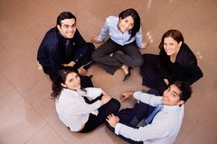 Business group in a circle Stock Image