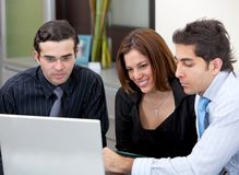 Business group with computer Stock Image
