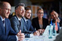 Business group at conference Stock Image